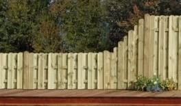 sichtschutz halbrund, sichtschutz herrera 90×172/90 staketen halbrund – abschluss – odessa, Design ideen