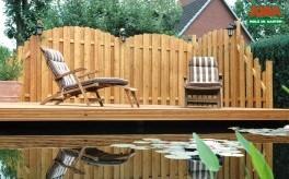 sichtschutz halbrund, sichtschutz zaun huelvas 180×180/74 cm staketen halbrund – odessa, Design ideen