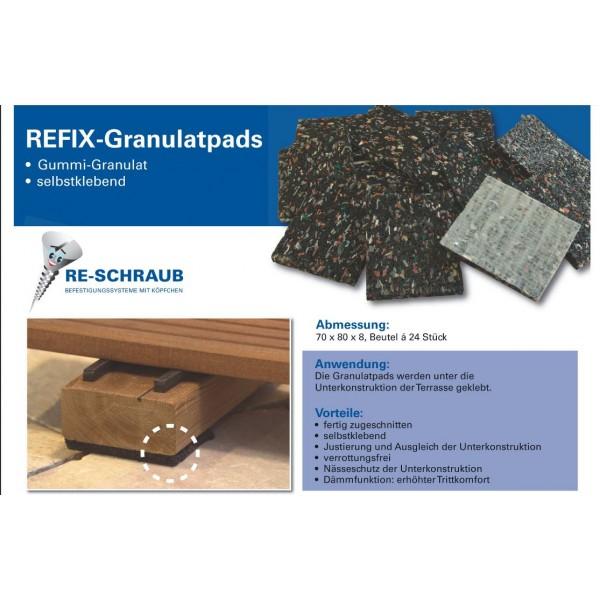 Re-Schraub Refix Granulatpads 70x80x8mm 24Stück 0,50€//S