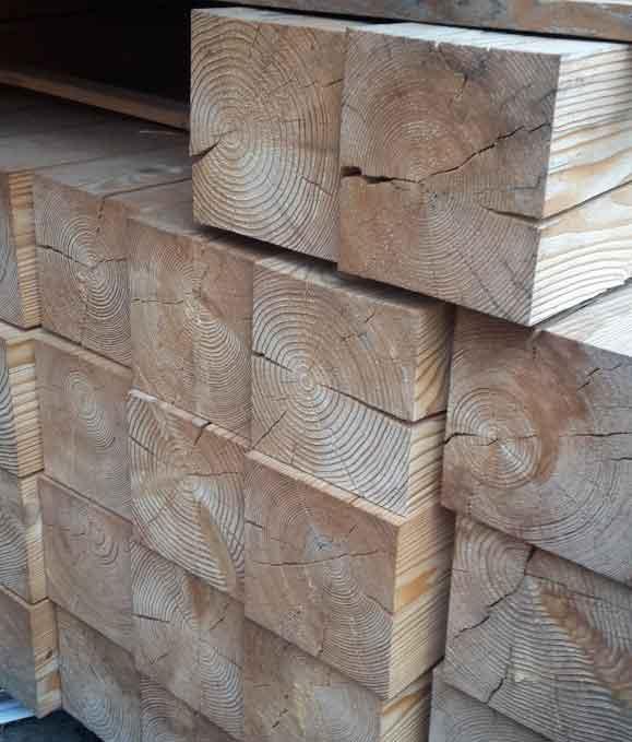 Bauholz Pfosten 100100 Mm Sibirische Lärche 100 X 100 Cm