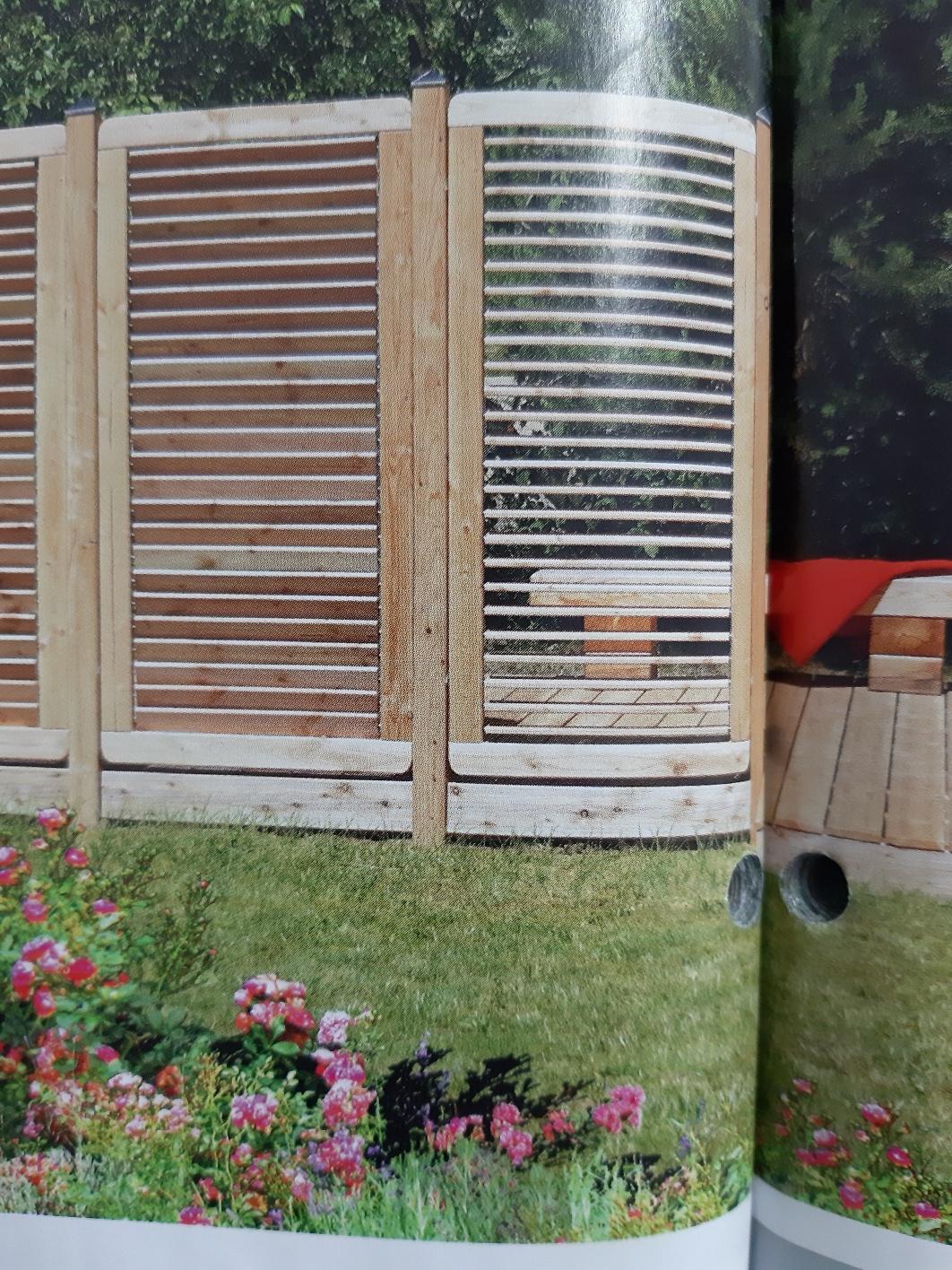 Limone Sichtschutzzaun Lamellen Verstellbar Larche Natur Odessa Holzhandel
